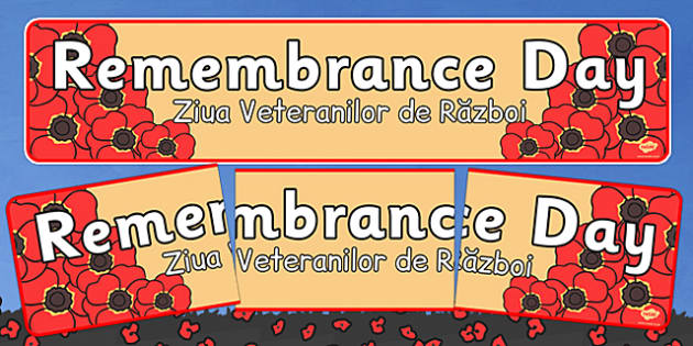 Remembrance Day Banner Romanian Translation - romanian, remembrance day, banner, display