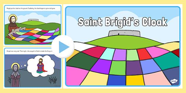 Saint Brigid's Cloak PowerPoint Story - saint brigid, irish history, ireland, saint, patron, powerpoint, story
