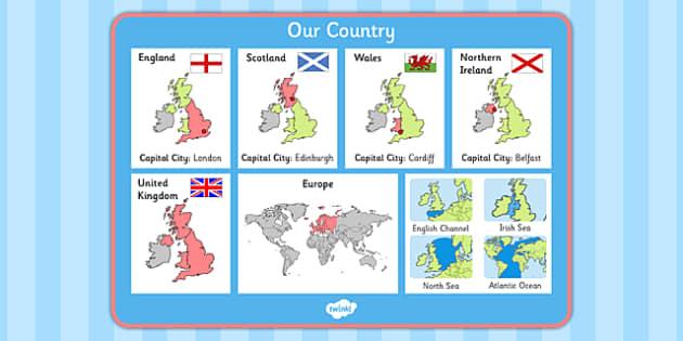 Our Country UK Word Mat - our country, uk, word mat, word, mat