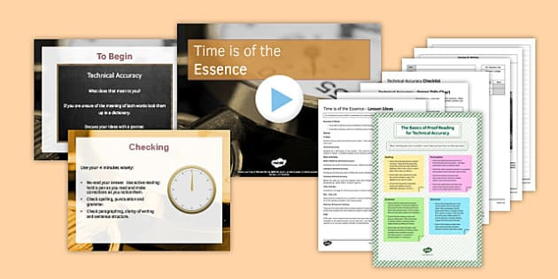 Time Is of the Essence Lesson Pack - time, essence, lesson pack, ks4