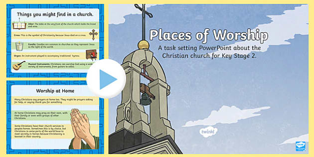 KS2 Places of Worship Christian Churches - religion, church