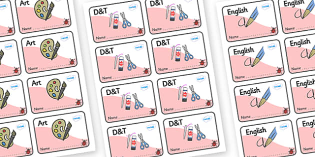 Ladybird Themed Editable Book Labels - Themed Book label, label, subject labels, exercise book, workbook labels, textbook labels