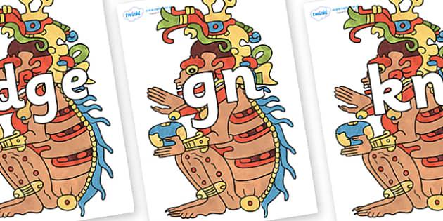 Silent Letters on Ah Puch - Silent Letters, silent letter, letter blend, consonant, consonants, digraph, trigraph, A-Z letters, literacy, alphabet, letters, alternative sounds