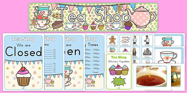 Tea Shop Role Play Pack - australia, tea shop, role-play, pack