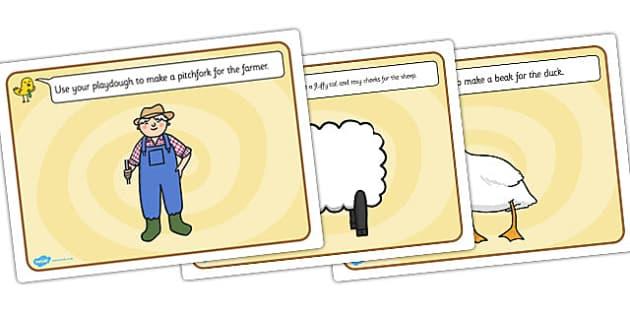 Farmer and Duck Playdough Mats - farmer duck, playdough mats, play dough mats, play doh mats, playdough, play doh, fine motor skills, farmer duck mat