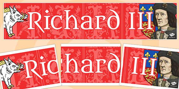 Richard III Display Banner Fancy Font - richard III, display