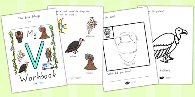 My Workbook V Lowercase - letter formation, writing, tracing
