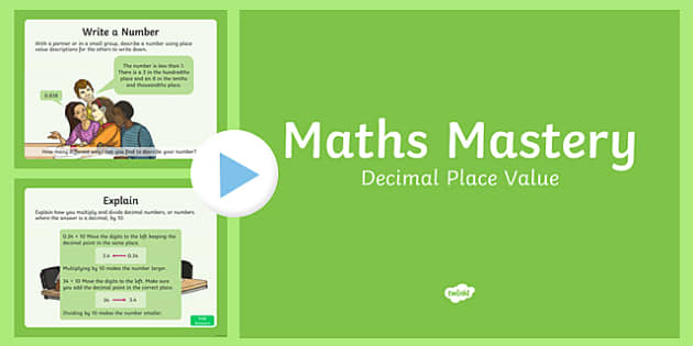 Year 6 Fractions Decimal Place Value Maths Mastery Activities PowerPoint
