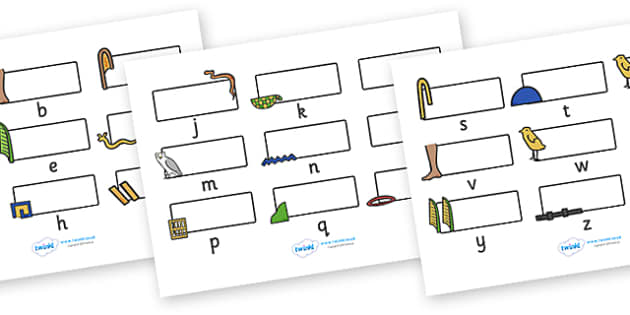 Editable Self Registration Labels (Ancient Egyptian Hieroglyphs) -  Self registration, register, editable, labels, registration, child name label, printable labels, ancient egyptian, egyptians, hieroglyphs, egypt