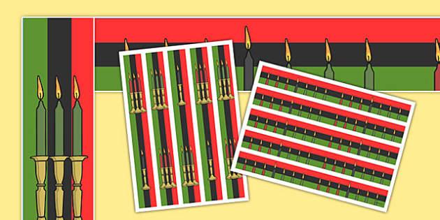 Kwanzaa Display Borders - kwanzaa, african american, usa, america, display border, display, border