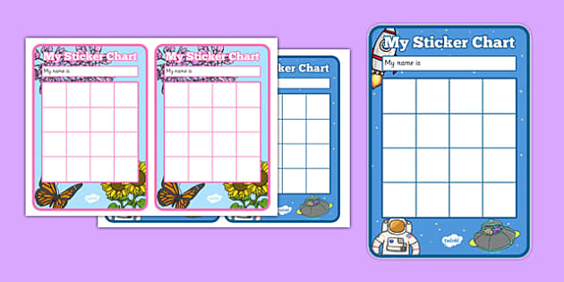 My Sticker Reward Chart - Reward Chart, School reward, Behaviour chart, SEN chart, Daily routine chart