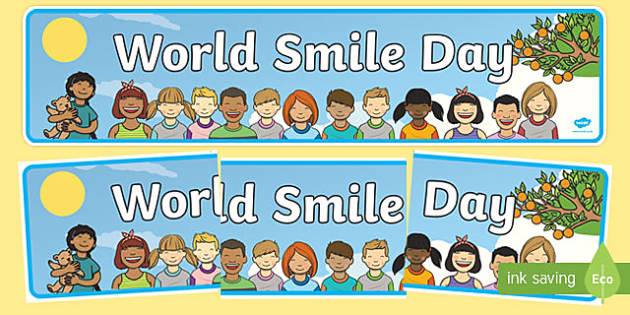 World Smile Day Display Banner