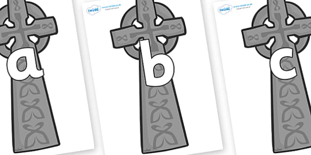 Phoneme Set on Celtic Crosses - Phoneme set, phonemes, phoneme, Letters and Sounds, DfES, display, Phase 1, Phase 2, Phase 3, Phase 5, Foundation, Literacy