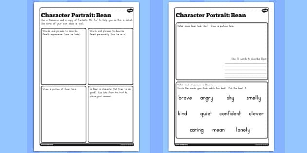 Character Profile Bean Worksheet to Support Teaching on Fantastic Mr Fox - australia