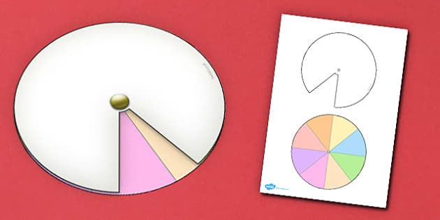 Interactive Notebook Spinner 1 8th - paper craft, visual aid
