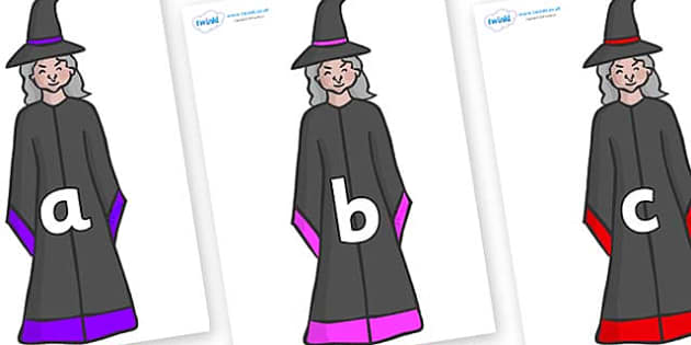 Phase 2 Phonemes on Witches - Phonemes, phoneme, Phase 2, Phase two, Foundation, Literacy, Letters and Sounds, DfES, display