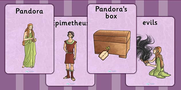 Pandoras Box Ancient Greek Myth Display Posters - greek mythology