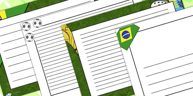Football Page Borders Landscape - football, sports, PE, borders