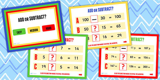 Addition and Subtraction Maths Challenge PowerPoint - numeracy