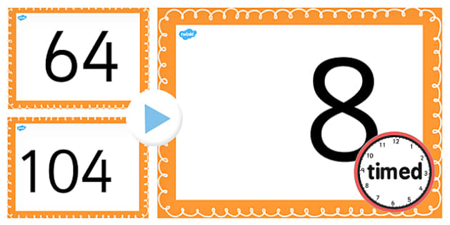 Counting on and Back in 8s up to 104 PowerPoint - counting, 8