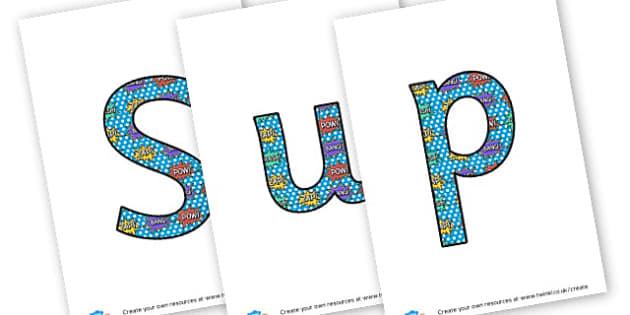 Superheroes - display lettering - Superheroes Display Primary Resources,  Superheroes, Display
