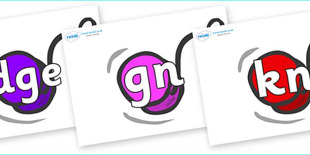 Silent Letters on Yo Yos - Silent Letters, silent letter, letter blend, consonant, consonants, digraph, trigraph, A-Z letters, literacy, alphabet, letters, alternative sounds