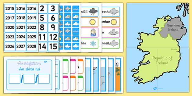 Weather Display Pack Gaeilge