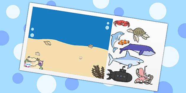 Under the Sea Themed Editable PowerPoint Background Template - under the sea, editable powerpoint, powerpoint, background template, themed powerpoint, edit