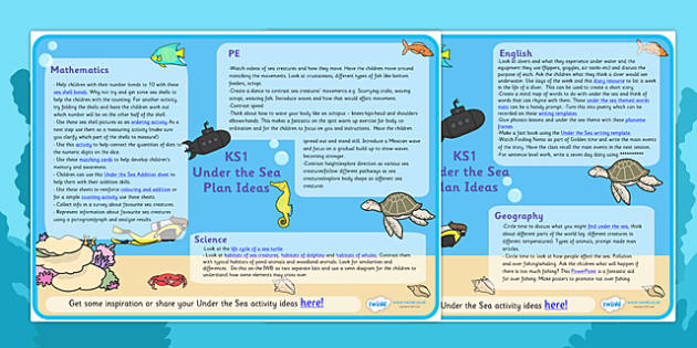 Under The Sea Lesson Plan Ideas KS1 - under the sea, under the sea lesson plan, under the sea lesson ideas, under the sea lesson plan ideas, mpt ideas