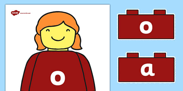 Building Brick Man o Sound Family Cut Outs - toys, sounds
