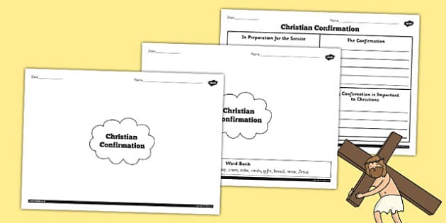 Christian Confirmation Differentiated Mind Map Worksheets - sheet