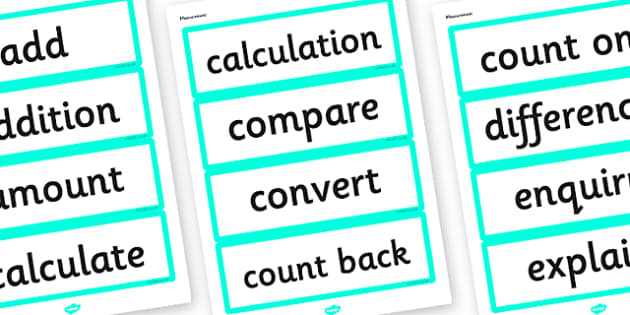 Year 3 2014 Curriculum Maths Measurement Vocabulary Card - measure