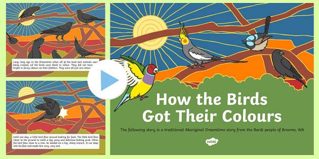 Aboriginal Dreamtime How the Birds Got Their Colours PowerPoint-Australia