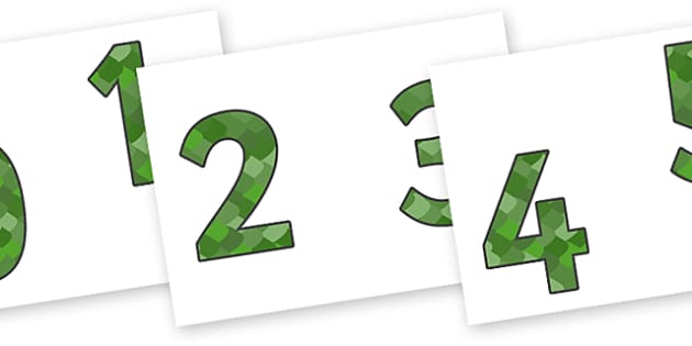 0-9 Display Numbers (Reptile Skin) - Display numbers, 0-9, numbers, reptile, skin, display numerals, display lettering, display numbers, display, cut out lettering, lettering for display, display numbers