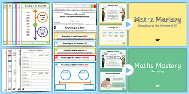 CfE Numeracy and Mathematics Second Level: Number, Money and Measure - Estimation and Rounding Resource Pack