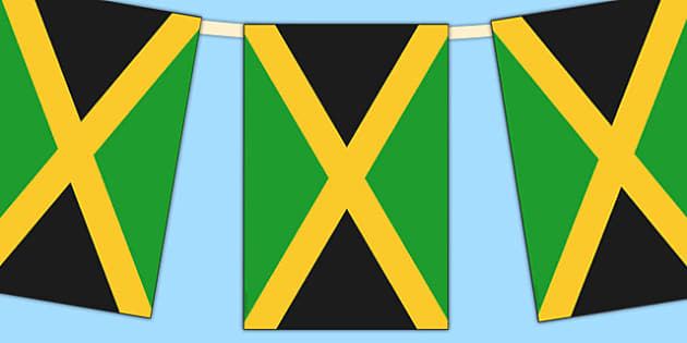 Jamaica Flag Display Bunting - countries, geography, flags