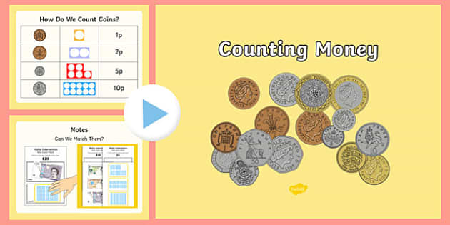Maths Intervention Counting Money PowerPoint and Activity Sheet Pack - SEN, special needs, maths, money, counting money, recognising money, adding money, coins, notes, worksheet