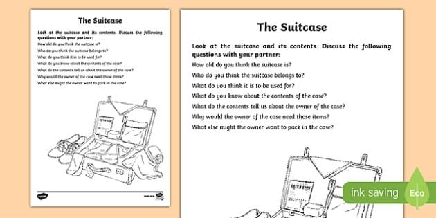 Evacuee Suitcase Activity