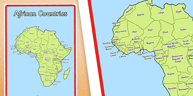 African Countries Display Poster - african, countries, display poster, display