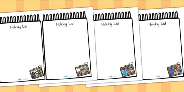 Travel Agents Role Play Holiday Lists - travel agents, role play