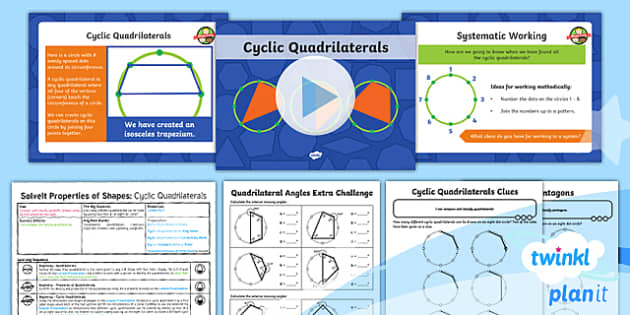 PlanIt Y6 Properties of Shape SolveIt Lesson Pack - Quadrilaterals, cyclic patterns, dotty paper, problem-solving, reasoning, geometry, Year 6, Y6, vert