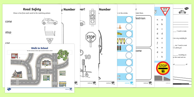 Top Ten KS1 Road Safety Week  Activity Pack