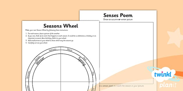 PlanIt - Science Year 1 - Seasonal Changes (Autumn and Winter) Unit Home Learning Tasks - planit