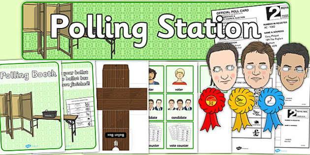 Polling Station Role Play Pack - polling, station, roleplay, pack