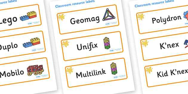 Amber Themed Editable Construction Area Resource Labels - Themed Construction resource labels, Label template, Resource Label, Name Labels, Editable Labels, Drawer Labels, KS1 Labels, Foundation Labels, Foundation Stage Labels