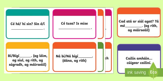 Useful Playground Sayings Display Pack Gaeilge - Gaeilge KS1 Display, gaelige, playground, Sa Chlós, playtime, Irish