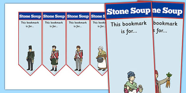 Stone Soup Editable Bookmarks - stone soup, bookmarks, editable