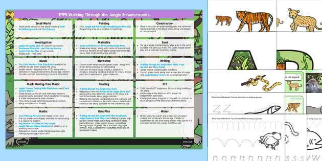 EYFS Enhancement Ideas and Resources Pack to Support Teaching on Walking Through the Jungle
