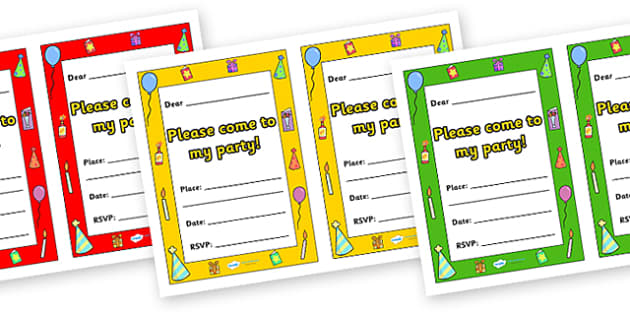 Party Invitations - party invitations, party, celebrate, celebrations, birthday, happy, invitation, invite, celebration, partying, celebrating, christmas, come to my party, please, place, date, RSVP