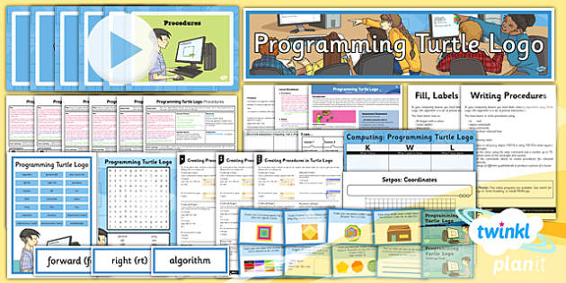 PlanIt - Computing Year 4 - Programming Turtle Logo Unit Pack - IT, ICT, LKS2 lower key stage 2, KS2, key stage 2, planning, resources, programming, algorithms